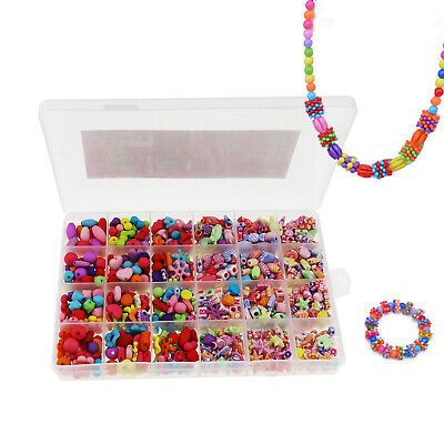 720X DIY Jewelry Making Set for Kid Bead Necklace Bracelet Making Crafts Toys