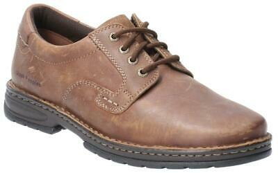 Hush Puppies Outlaw II Mens Brown Lace up Smart Leather Oxford Shoes