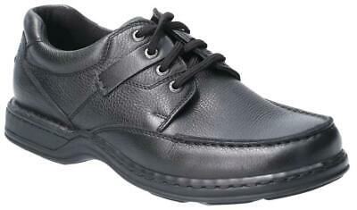 Hush Puppies Randall II Mens Black Lace up Leather Casual Oxford Shoes