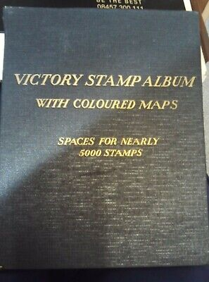 victory stamp album with over 1600 stamps
