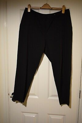 Dorothy Perkins Black Women Cropped Length Trousers Size UK 18