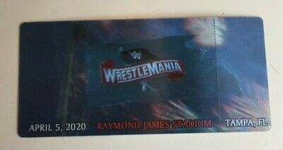 WWE Wrestlemania 36 3D Ticket Stub Rare Commemorative  Souvenir Tampa Bay WWF