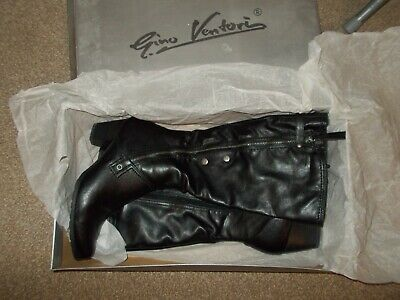 GINO VENTORI KNEE HIGH BOOTS in Black Size 7