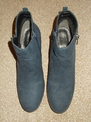 MARKS & SPENCERS COLLECTION SUEDE ANKLE BOOTS in Blue Size 7