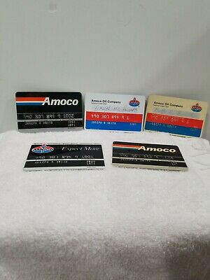Collectable Amoco Gas Credit Cards Lot of 5
