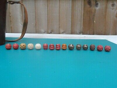 15 Antique , Vintage And Modern Ojime Bead Beads For Inro Netsuke