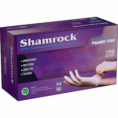 Shamrock Industrial Latex Disposible Gloves, Powder Free (choose your size)