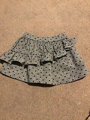 SKIRT GIRLS AGE 4 GREY WITH BLACK SPOTS (bought in spain boutique)