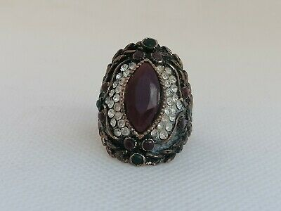 Authentic Extremely Rare Ancient Roman Ring Bronze With Stone Amazing