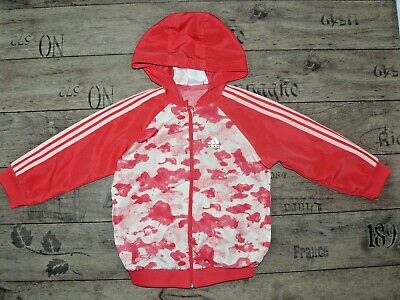 Adidas girls tracksuit top size 3-4 years