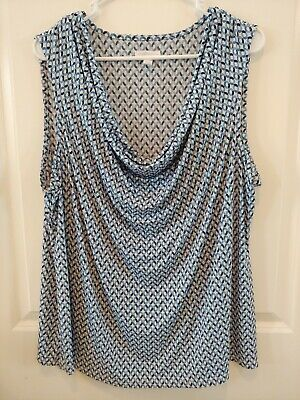 Womans Tank Charter Club 3x Blue scoop neck suit shell
