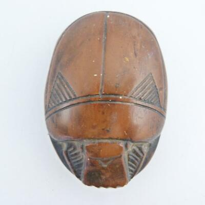Antique Egyptian Carved Soapstone Scarab Beetle Paperweight