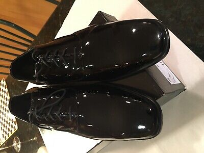Men's Saks fifth avenue patent formal dress shoes size 12 made in Italy