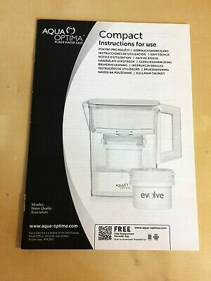 Aqua Optima Compact water filter instruction booklet - used