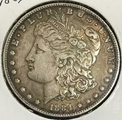 1884 $1 US Morgan SILVER Dollar! Extra Fine! Old US Coin!