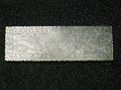 ANTIQUE CHINESE MOTHER OF PEARL ARMORIAL GAMING COUNTERS CHIPS cca.1820-1830