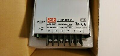 Mean Well HRP-450-24 Power Supply, 24V 18.8A
