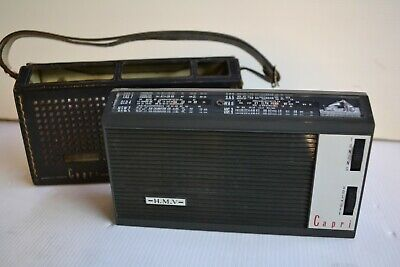 COLLECTABLE HMV CAPRI TRANSISTOR RADIO (Refurbished)