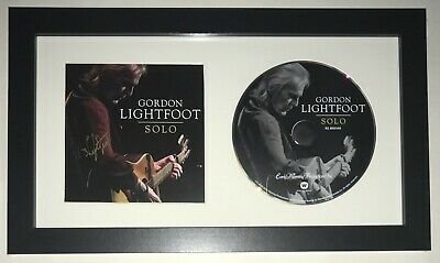 Gordon Lightfoot singer REAL hand SIGNED SOLO NEW CD Framed Display COA #1