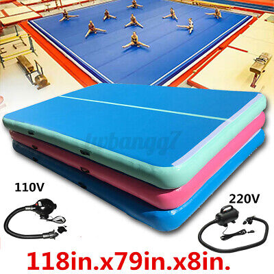 300x200x20CM Inflatable Gym Mat Air Track Floor Tumbling Gymnastics Airtrack Pad