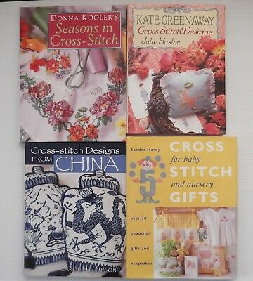 4 Cross Stitch Books Various Designs Patterns Crafts Sewing Baby Seasons China