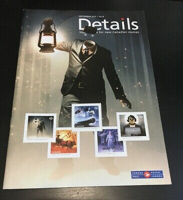 Canada Post DETAILS Stamps & Coins Haunted Canada Sept 2015 Bilingual Magazine