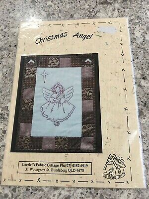 Christmas Angel Embroidery and Patchwork Pattern