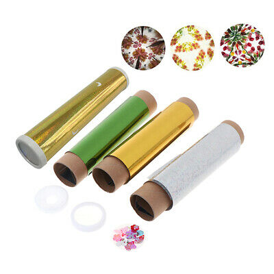 DIY Colored Rotating Kaleidoscope Kits Science Educational Craft Kid T RU