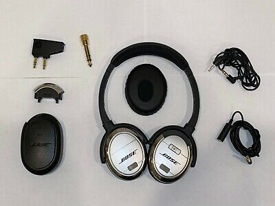 Bose QuietComfort 3 Noise Cancelling Rechargeable Headphones with extra earpad