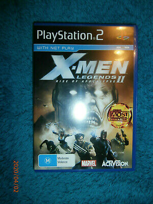 X-Men Legends II Rise of Apocalypse (Sony PlayStation 2, 2005) PS2 game PAL