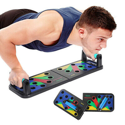 UK 11 in 1 Push Up Board Exercise Pushup Stands Non-Slip Sticker Body Building~~