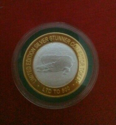 Crocodile Silver Stunner Coin Limited To 500 With C.O.A