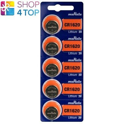 5 Murata Cr1620 Lithium Batteries Sony 3V 80 Mah Cell Coin Button Exp 2029 New