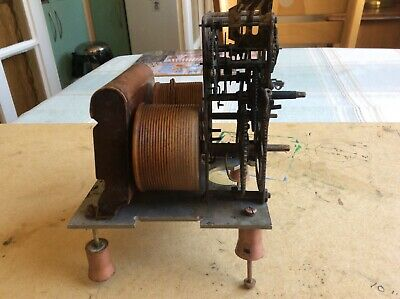 very old wall clock twin weight  movement