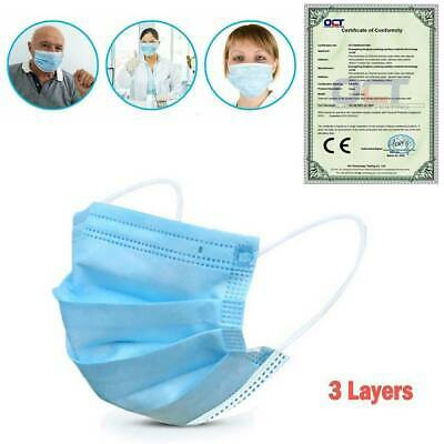 50PCS One-Time Safe 3 Layers Face Mouth Facial Covers Anti-Dust Non-Woven Massks