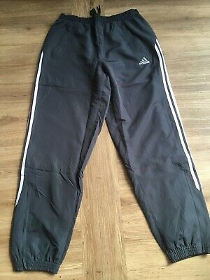 "Vintage 00 Adidas Equipment Tracksuit Bottoms Jogging Mens 38/40"" XL Black Pamts"