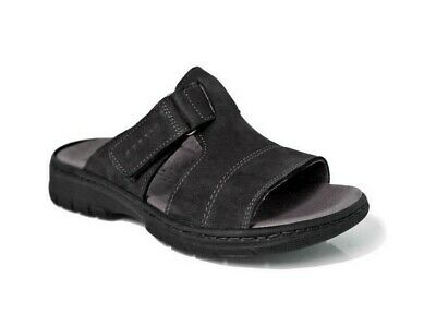 Robert 85645 Black Slippers Sandals Man Tear Comfort Casual Leather