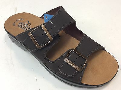 Fly Flot 62044 Dc Sandals Slippers Man Bands Buckles Real Leather Adjustable
