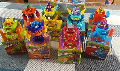 SUPERZINGS SERIES 3 COMPLETE SET ALL 8 SUPERBOTS + 8 SUPERZINGS IN BOX inc RARE