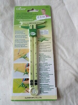 Clover 5 In 1 Sliding Gauge sewing nancy zeiman measure.quilting,clothes making