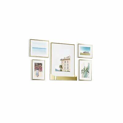 Umbra Matinee Gallery Brass Picture Frame -  5 Piece Set