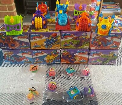 Superzings Series 5 Complete Set Of All 8 Skyracers + 8 Superzings In Box #2