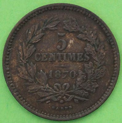 Luxembourg 5 Centimes 1870