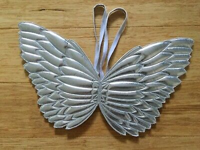 Pre-Owned Cotton On Kids Silver Fairy Wings One Size Fits All