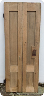 Antique Pine Shutter - Original Reclaimed 18th Century Georgian Single Twin Leaf