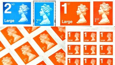 1st And 2nd Class Post Stamps Genuine Royal Mail Brand New