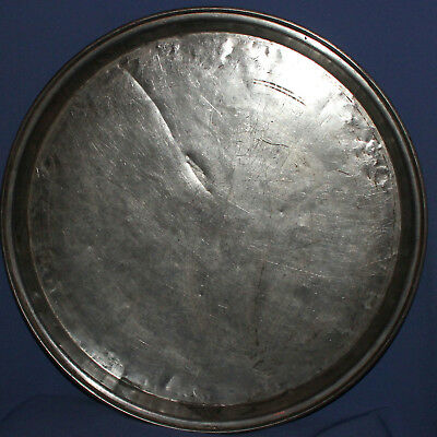 1940 Antique hand made tinned copper serving tray platter