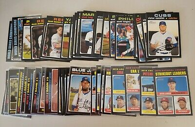 25-card Lot of 2020 Topps Heritage major league cards-you pick 25 from my list