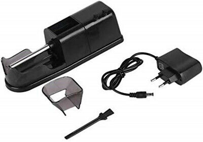 Black Portable Electric Cigarette Rolling Machine Automatic Injector DIY Maker