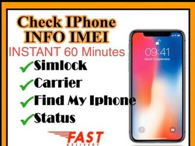 iPHONE &iPad Info (Lock/unlock,Network,icloud Status,clean/Barred)check Service